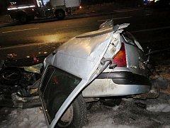 Tragická nehoda na silnici I/33 mezi Hradcem Králové a Jaroměří.