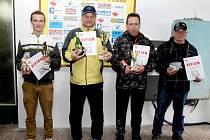 Nejlepší střelci v libovolné malorážce vleže – zleva M. Ditrych (2.), M. Varga (1.), R. Brožek (3.), M. Klimánek (5.).