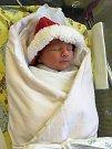 TOMÁŠ KUNT udělal radost rodičům Ivetě a Janu Kuntovým z Libčan. Malý Tomášek se na svět poprvé zvesela podíval 21. prosince loňského roku v 9:43 hodin s váhou 3430 g a délkou 50 cm. Svým narozením potěšil i sestřičku Andrejku.