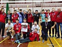 Vítězný tým - volejbaloví kadeti Slavie Hradec Králové.