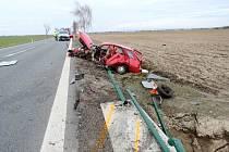 Vážná dopravní nehoda na silnici I/11.