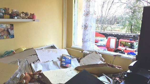 V bytě na hradeckém Smetanově nábřeží explodoval plyn.