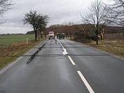 Následky řádění přírodních živlů v Deblově a okolí v červnu 2008.