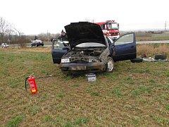 Havárie osobního automobilu u Lubna.