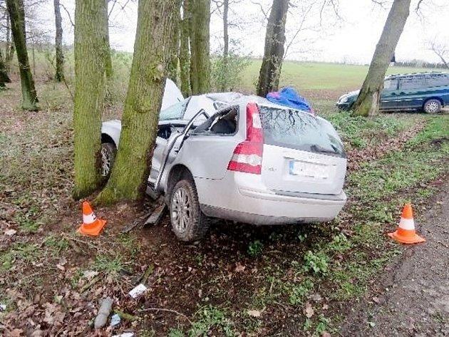 Tragická dopravní nehoda vkatastru obce Dolní Přím.