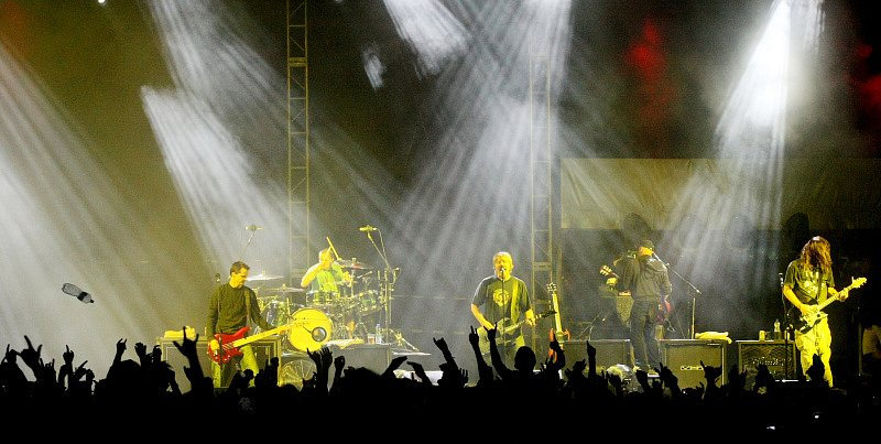 Koncert byl náročný nejen pro kapelu, ale i pro fanoušky v kotli