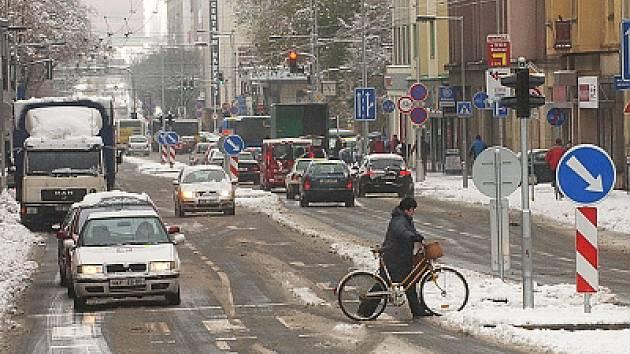Listopadový sníh v Hradci Králové