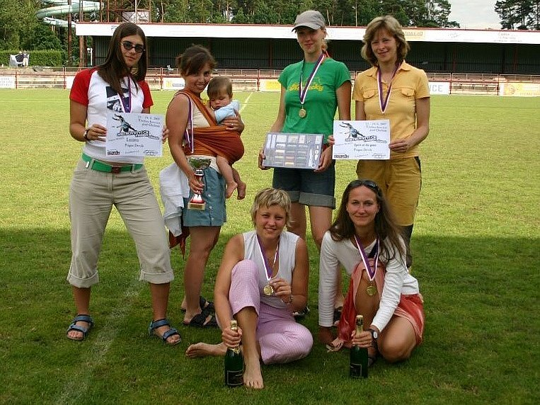 První místo - ženy