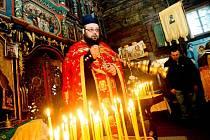 Oslava pravoslavných Vánoc ve čtvrtek 7. ledna 2010.