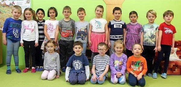 Děti zMŠ Beruška vChlumci nad Cidlinou.
