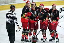 I. hokejová liga: Královští lvi Hradec Králové - Salith Šumperk.