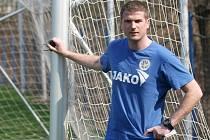 Fotbalový kouč Luboš Prokopec při tréninku.