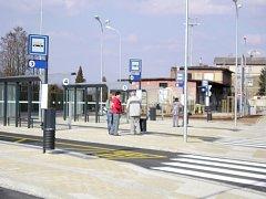 Dopravní terminál v Novém Bydžově.