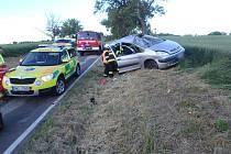 Citroën na Novobydžovsku narazil do stromu.