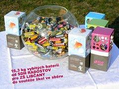 Hasičské odpoledne v Radostově u příležitosti oslav Evropského dne recyklace baterií a předávka sbírky do ZŠ Libčany.