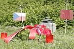 Oslavy 70. výročí osvobození republiky na královéhradeckém náměstí Osvoboditelů.