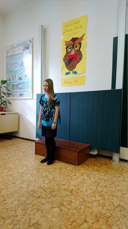 Libčanská básnička - recitační soutěž dětí v ZŠ Libčany.
