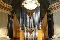 Varhany v Městské hudební síni v Hradci Králové.