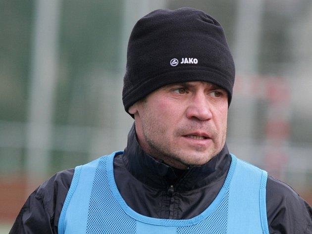 Fotbalista Marek Kulič na tréninku v Hradci Králové.