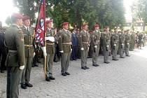 Poslední rozloučení s rotmistrem Jaroslavem Lieskovanem, jedním z pěti českých vojáků, které zabil sebevražedný atentátník v Afghánistánu, v královéhradeckých Kuklenách.