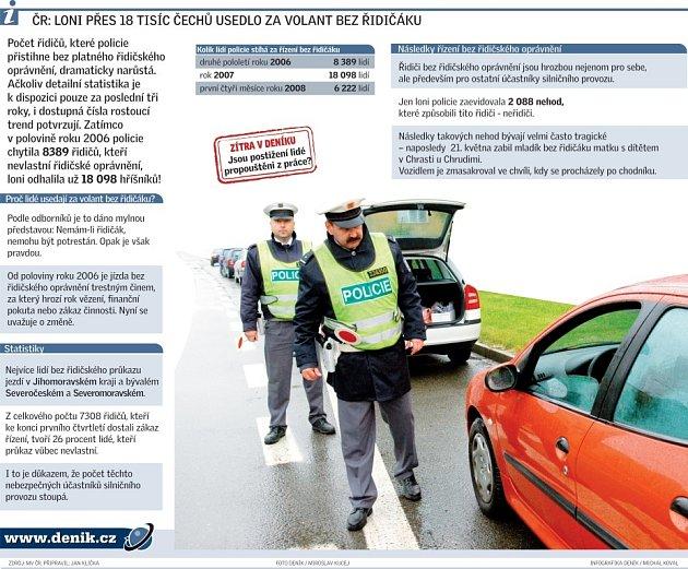 Infografika řidičské průkazy