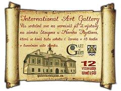 Pozvánka na vernisáž výstavy do galerie v zámku Sloupno.