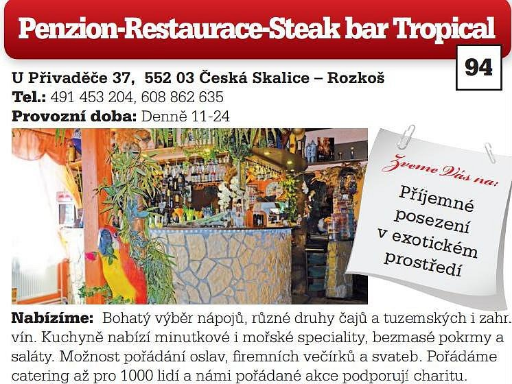 Penzion-Restaurace-Steak bar Tropical