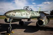 Proudový letoun Messerschmitt Me-262 v Hradci Králové.