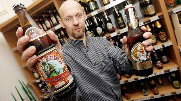 Speciální sváteční piva lze koupit v hradecké prodejně Pivonka v Tomkově ulici