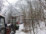 Následky sněhové kalamity v Krkonoších.