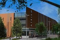 Vizualizace obchodního centra ATRIUM v Hradci Králové.