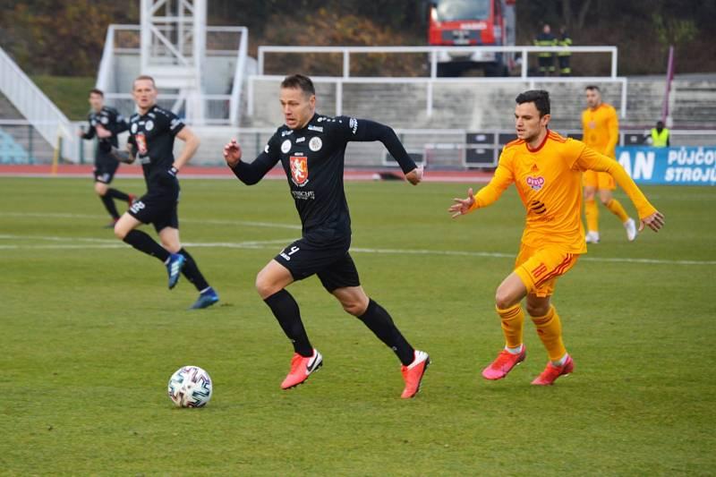 Fotbalová FORTUNA:NÁRODNÍ LIGA: FK Dukla Praha - FC Hradec Králové.