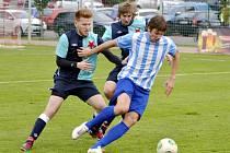 Krajský přebor ve fotbale: FC Slavia Hradec Králové - FC Kostelec nad Orlicí.