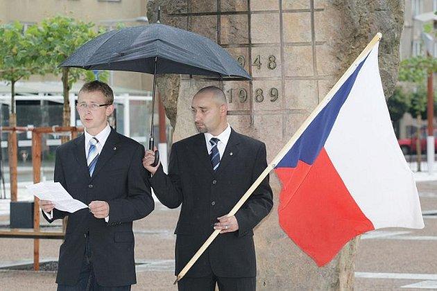 Shromáždění Národní strany na Riegrově náměstí.