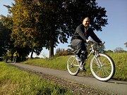 Jan Birke na cyklostezce.