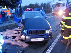 Dopravní nehoda v Třebechovicích pod Orebem - Nepasicích.