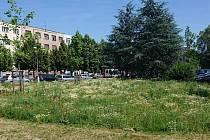Město vyzkoušelo novou techniku údržby trávníku.