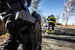 Zásah hasičů v Královéhradeckém kraji v souvislosti se silným větrem.