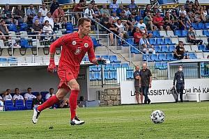 OPORA. Hradecký brankář Vilém Fendrich podával v úvodu sezony výborné výkony.