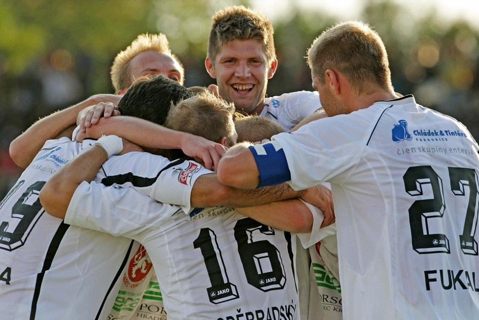 Fotbalová I. Gambrinus liga: FC Hradec Králové - FC Zbrojovka Brno.