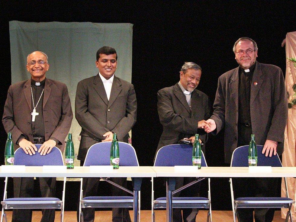 Z programu setkání indického biskupa Petera Machada s dárci zapojenými do projektu Adopce na dálku.