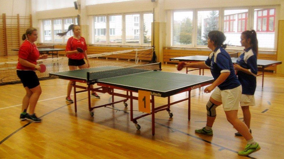 Okresní přebor chlapců ze SŠ a SOU ve stolním tenisu.