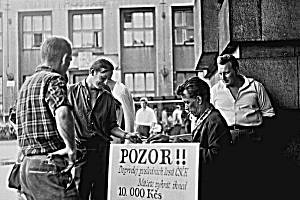 Krajské město v 60. letech.