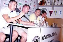 Předsezonní tisková konference prvoligového fotbalového klubu FC Hradec Králové.