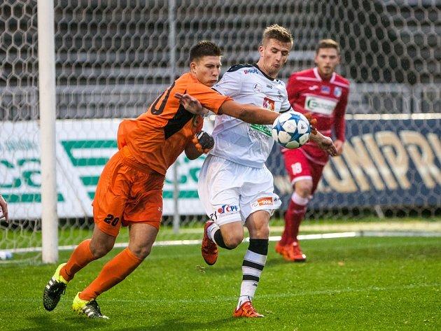 Fotbalová národní liga: FC Hradec Králové - FK Ústí nad Labem.