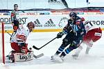 Další prohra. Hradečtí hokejisté nevyzráli na Liberec ani v druhém čtvrtfinálovém utkání. Tentokrát nedali ani gól.