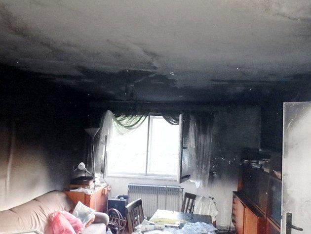 Požár vkuchyni rodinného domu v Chlumci nad Cidlinou.