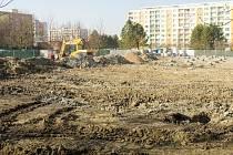 Stavební práce v královéhradecké Exnárově ulici.