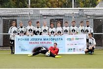 Fotbalový Pohár Josefa Masopusta - okresní finále středních škol v Hradci Králové.