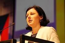 Evropská komisařka Věra Jourová se aktivně zapojila do programu konference.